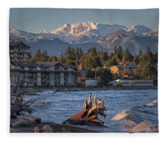 High Tide In The Bay Fleece Blanket