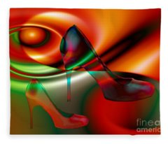 Highheels Red And Green Fleece Blanket