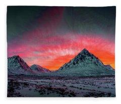 Highland Afterglow Fleece Blanket