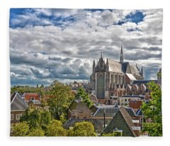 Highland Church Seen From Leiden Castle Fleece Blanket