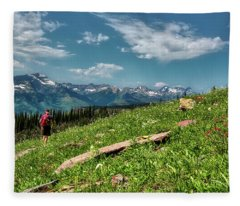 Highline Trail Adventure Fleece Blanket