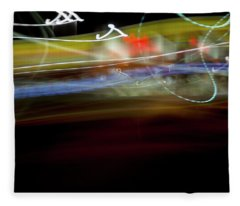 Highway Lights Fleece Blanket