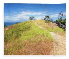 Hike To Whaler's Point Great Barrier Island New Zealand Fleece Blanket