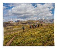 Hiking At 13,000 Feet Fleece Blanket