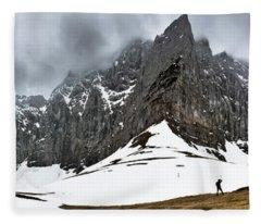 Hiking In The Alps Fleece Blanket