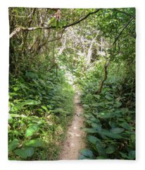 Hiking Path In The Atlantic Forest Fleece Blanket