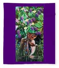Hiking The Berry Patch Fleece Blanket