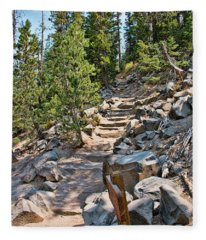 Hiking To Devils Postpile Fleece Blanket