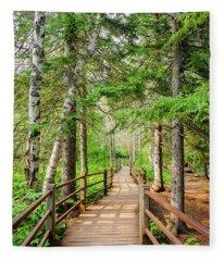 Hiking Trail Fleece Blanket