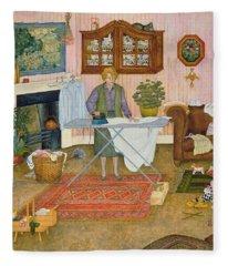 Hilda Nekudas Ironing Day Fleece Blanket