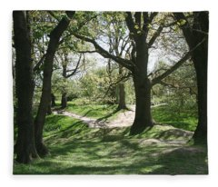 Hill 60 Cratered Landscape Fleece Blanket