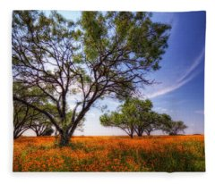 Hill Country Spring Fleece Blanket