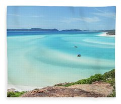 Hill Inlet Lookout Fleece Blanket