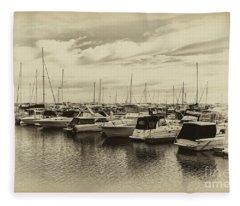 Hillarys Boat Harbour, Western Australia Fleece Blanket