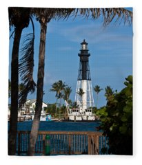 Hillsboro Inlet Lighthouse And Park Fleece Blanket