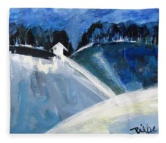 Hillside In Winter Fleece Blanket