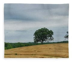 Hillside Tree 1 Fleece Blanket