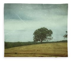 Hillside Tree 2 Fleece Blanket