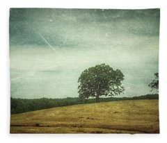 Hillside Tree 4 Fleece Blanket
