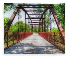 Hinkson Creek Bridge Fleece Blanket