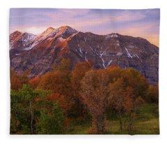 Hint Of Fall Fleece Blanket