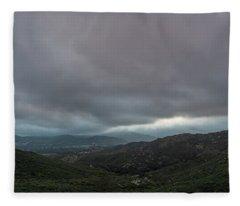 Hint Of Purple Fleece Blanket