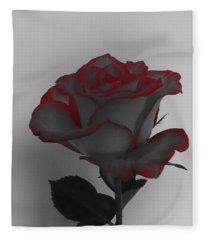 Hints Of Red- Single Rose Fleece Blanket