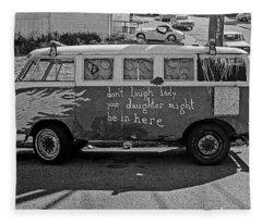 Hippie Van, San Francisco 1970's Fleece Blanket