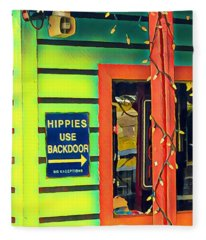 Hippies Use Backdoor Fleece Blanket