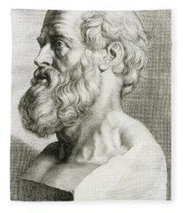 Hippocrates, Greek Physician Fleece Blanket