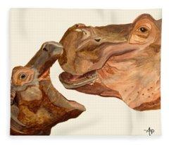 Hippos Fleece Blanket