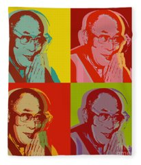 His Holiness The Dalai Lama Of Tibet Fleece Blanket