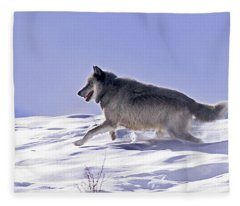 His Majesty Wolf 21m Fleece Blanket