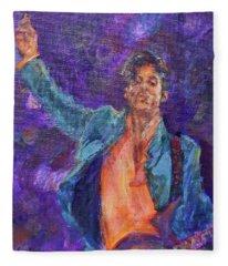 His Purpleness - Prince Tribute Painting - Original Art Fleece Blanket