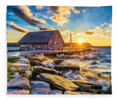 Historic Anderson Dock In Ephraim Door County Fleece Blanket