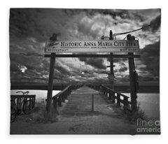 Historic Anna Maria City Pier 9177436 Fleece Blanket