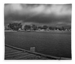 Historic Anna Maria City Pier In Infrared Fleece Blanket