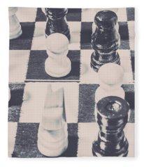 Historic Chess Nostalgia Fleece Blanket