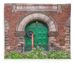 Historic Elks Club Building Geneva New York Fleece Blanket