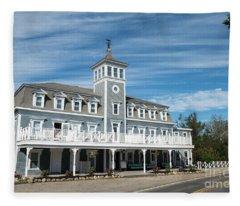 Historic Inns And Hotels On Block Island Rhode Island Fleece Blanket