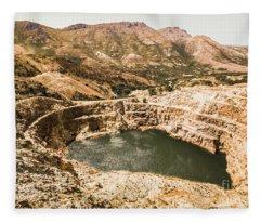 Historic Iron Ore Mine Fleece Blanket