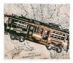 Historic Melbourne Tram Adventure Fleece Blanket