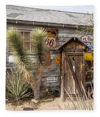 Historic Route 66 - Outhouse 1 Fleece Blanket
