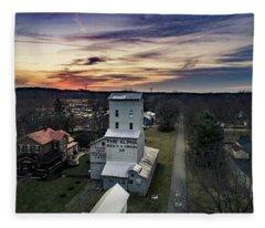 Historic Sunset Fleece Blanket