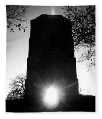 Historical Water Tower At Sunset Fleece Blanket