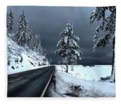 Highway 200 Near Hope 2 Fleece Blanket