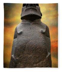 Hoa Hakananaia Fleece Blanket
