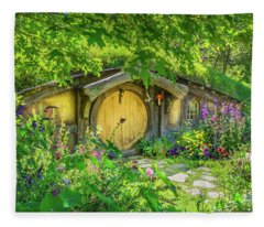 Hobbit Cottage Fleece Blanket