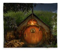 Hobbit Dwelling Fleece Blanket