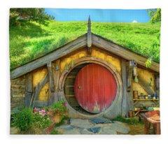 Hobbit House Fleece Blanket